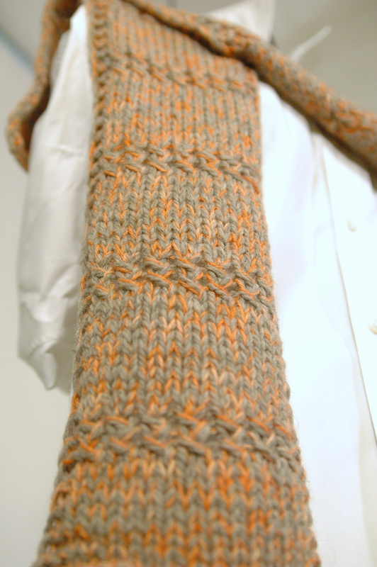 Two so-so yarns can make a great scarf!