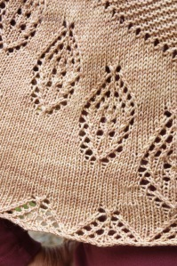 A close up of the lace