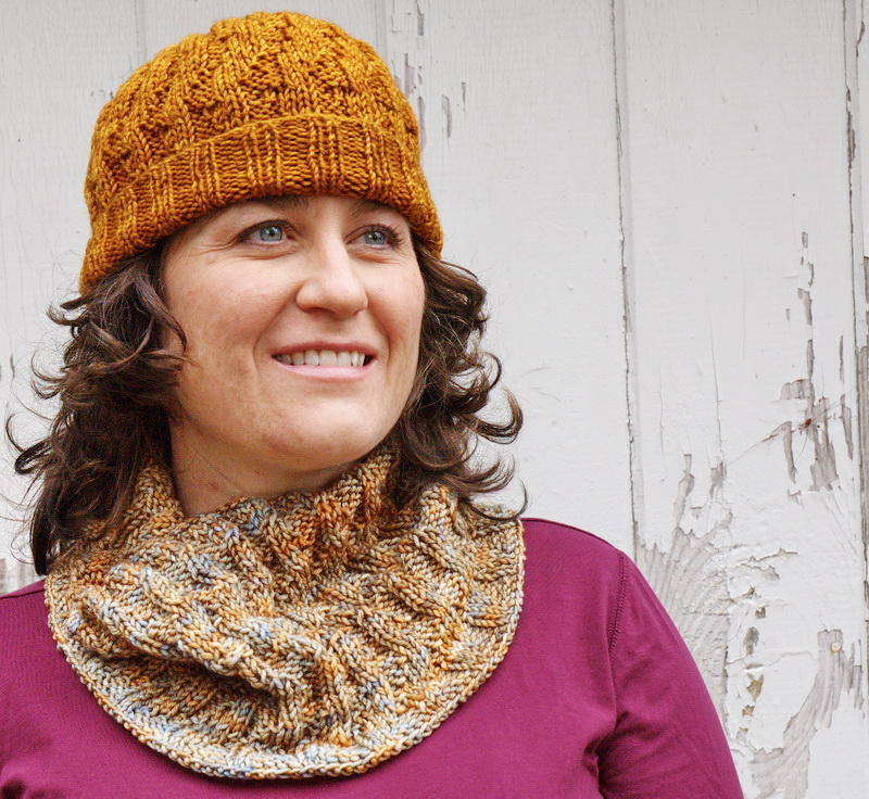 A matching Hat/Cowl set in DK weight yarn