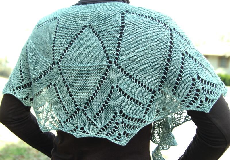 Hand-knit shawl worn traditionally
