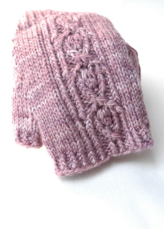 A fingerless mitt