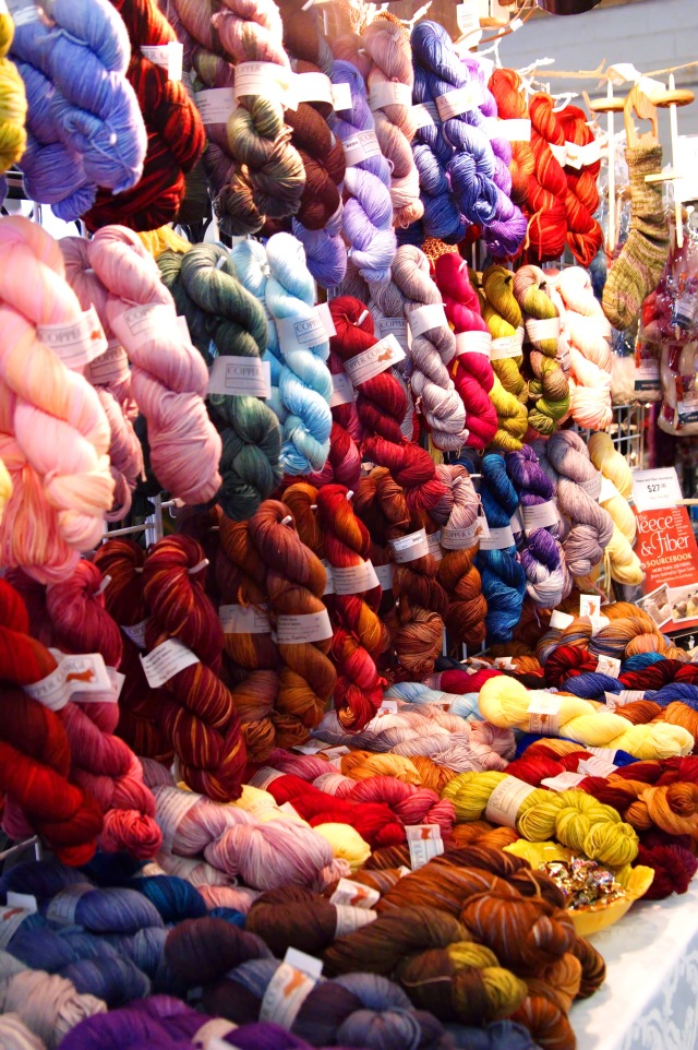 Yarn from The Copper Corgi on display