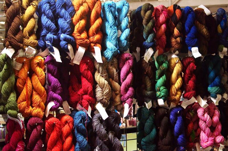 Dragonfly Fiber Yarn display