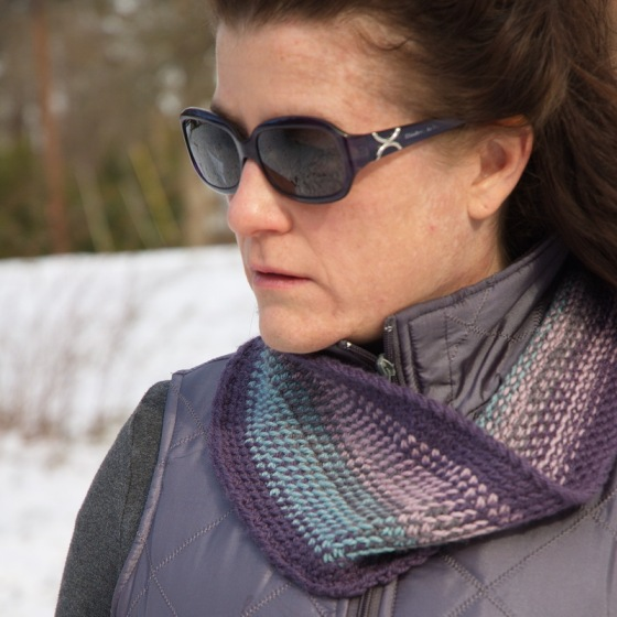 Scrappy Split Stitch Cowl /Barbara Benson