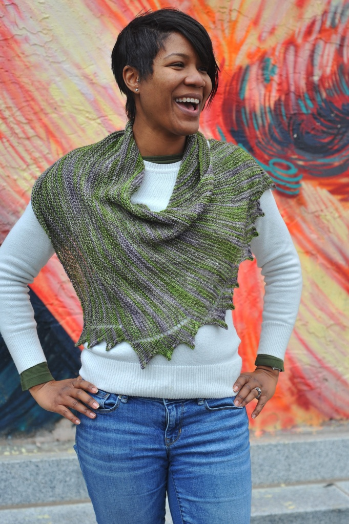 In Uffish Thought - a shawl by Barbara Benson