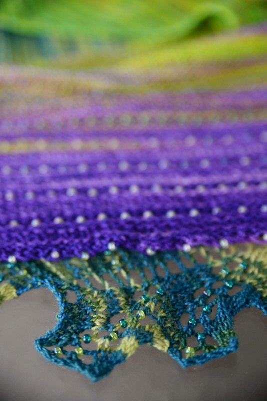 A sneak peek at a new beaded shawl from Barbara Benson, The Unique Sheep, and EarthFaire