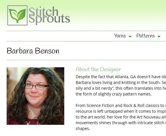 Stitch Sprouts designer, Barbara Benson