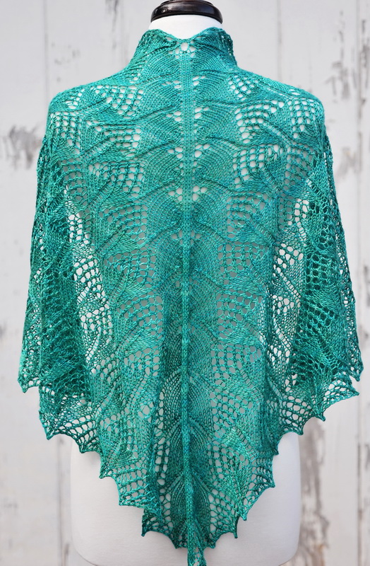 Triangular silk lace shawl from Barbara Benson