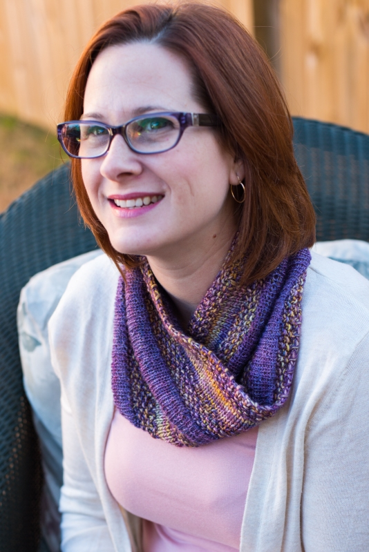 Moebius cowl knit with Malabrigo Silky Merino and Silkpaca by Barbara Benson