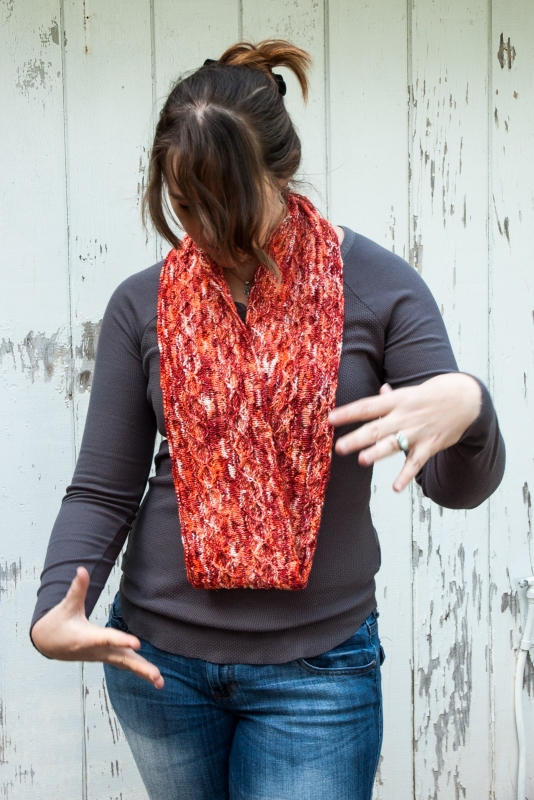 Rollercoaster, long infinity scarf by Barbara Benson